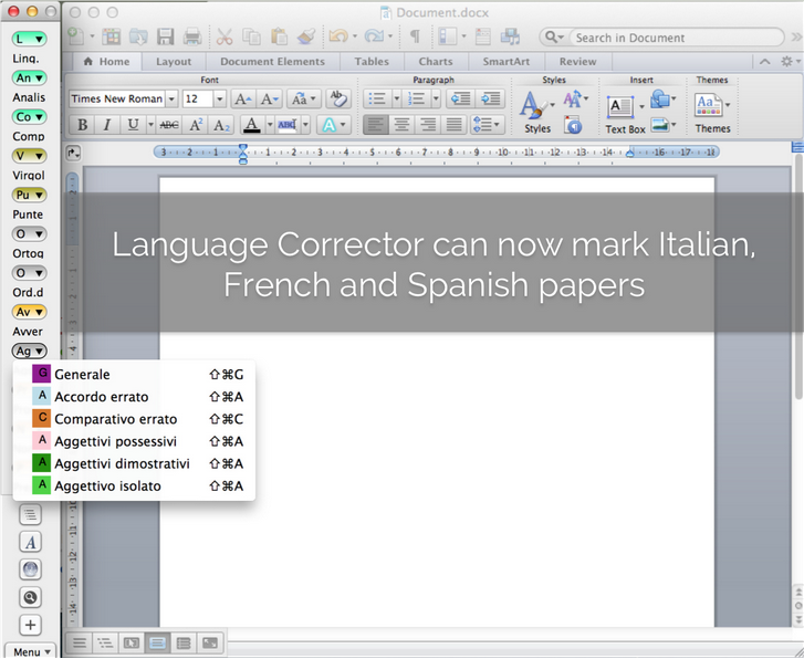 Italian, Spanish and French papers